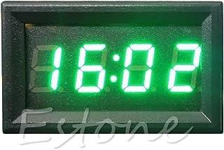 JHFF Auto Interior Desk Dashboard Digitaluhr Auto-Timer LCD-Bildschirm Mit Selbstklebender Halterung 6,12x 3,45 X 1,65cm