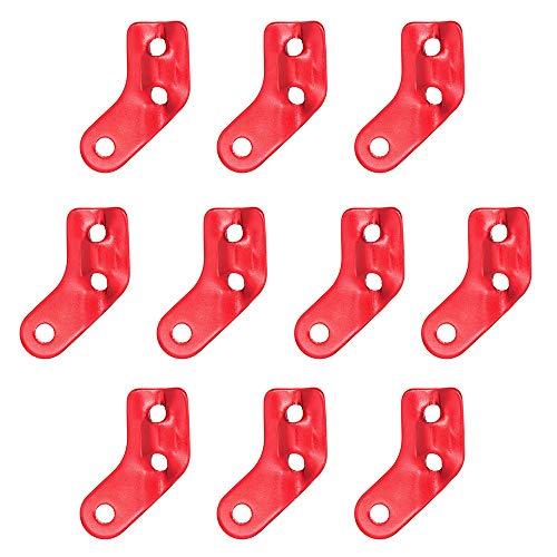 DingGreat 10Pcs Aleación De Aluminio 3 Agujero En Forma de L Tienda de campaña Cuerda Cuerda Ajustadora Guyline Tensor Hebilla Camping Senderismo Accesorios al Aire Libre Rojo