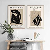 yhyxll Vintage Henri Matisse Poster Beige Abstrakte Malerei