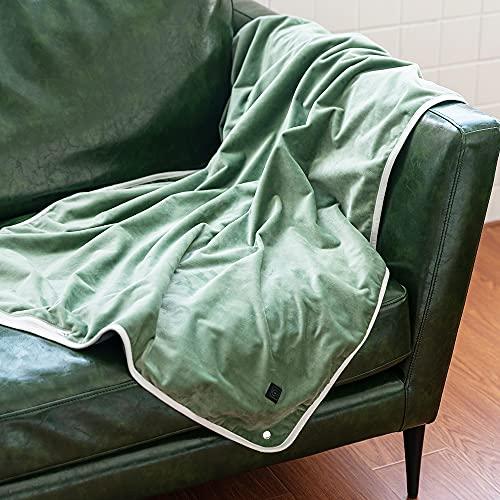 IYUNP 電気毛布 電気ひざ掛け毛布 usb 100×75cm 2022最新版 電気ブランケット ひざ掛け 肩掛け ヒーター内蔵 電気敷き毛布 加熱ブランケット 3段階温度調節 わせ 大判 保温 防寒 スーパーソフトフランネル生地…