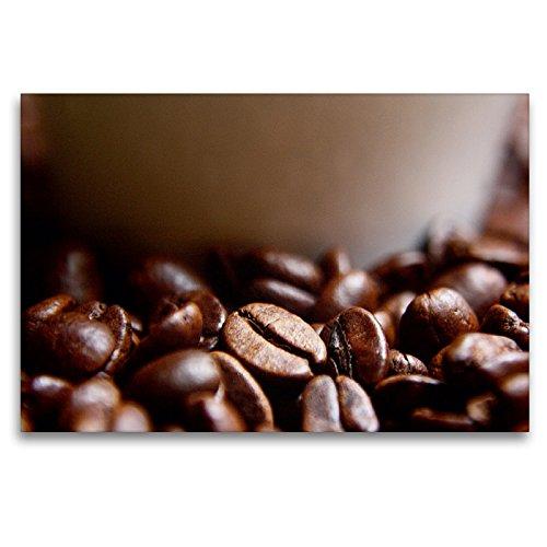 CALVENDO Premium Textil-Leinwand 120 x 80 cm Quer-Format Frische Kaffeebohnen, Leinwanddruck von Lilo Kapp