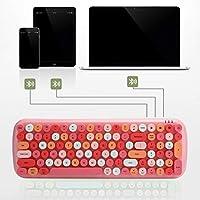 取り外し可能なワイヤレス キーボード、マルチデバイス コンピューター アクセサリー キーボード正確 家庭用 屋外用 タブレット コンピューター コーヒー ショップ用(#1)