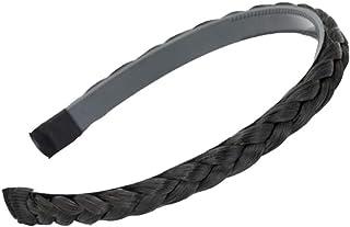 Headband Plaited Braid Hair Band Braided Hairband Braid Headband Black