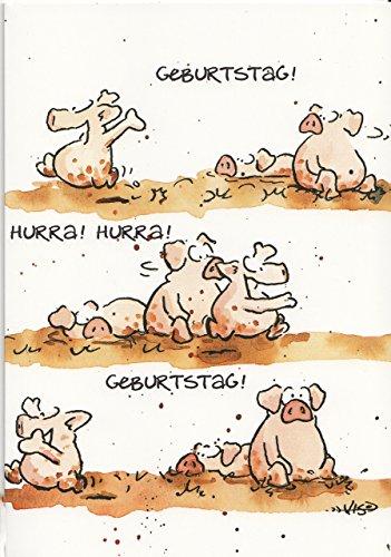 Geburtstagskarte Fröhliche Schweine