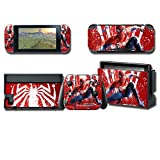 Skin Cover Decals Vinyl for Nintendo Switch, Anime Game Protector Wrap Full Set Protective Faceplate Stickers Console Joy-Con Dock (Stars Cream [2563])