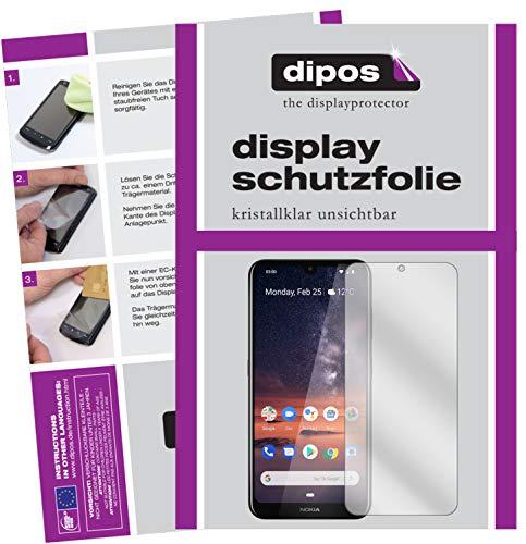 dipos I 6X Pellicola Protettiva per Nokia 3.2 Pellicola di Protezione Cristallo (3X Anteriore + 3X Posteriore)