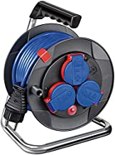 Brennenstuhl Garant Kompakt IP44 Kabelhaspel (15m kabel in blauw, speciale kunststof, kortstondig buitengebruik, Made in G...