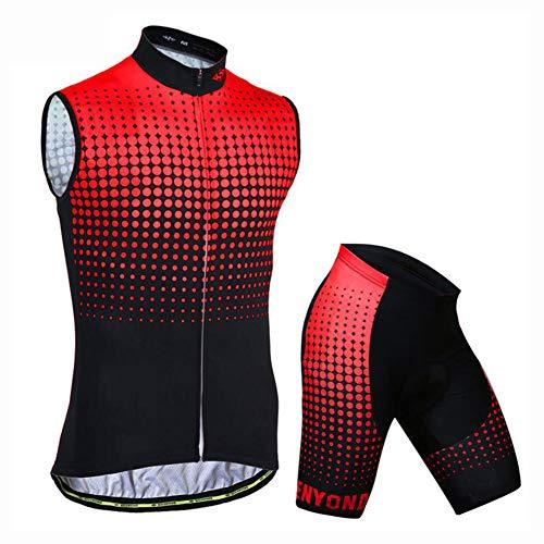 YXX Traje Ciclismo Maillots Ciclismo Hombre Verano+ Pantalones Corto Ciclismo con Bolsillos...