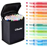 Ohuhu Paint Pens for Rock Painting Art, Ohuhu 40-color Acrylic Markers Pen for DIY Ceramic, Water-Based Acrylic Ink Painting for Porcelain, Metal, Wood, Fabric, Canvas, Paint Marker Christmas Gift