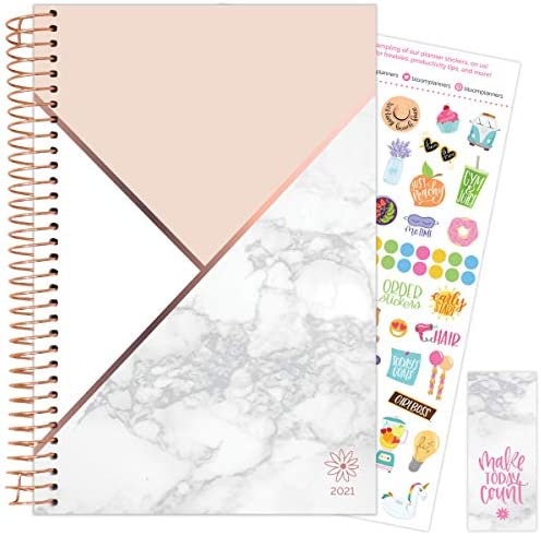 bloom daily planners 2021 Calendar Year Day Planner January 2021 December 2021 6 x 8 25 Weekly product image