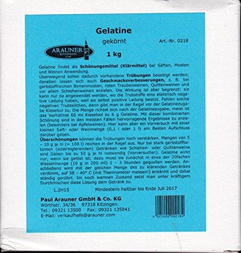 Gelatine Schönungs-Klärmittel für Säften, Mosten + Weinen 1 KG