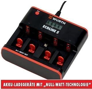Würth Cargador de mesa Cargador de batería para AA/AAA/c/D ...