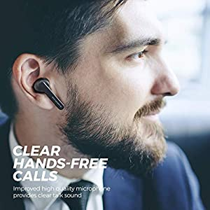 SoundPEATS TrueCapsule Wireless Earbuds TWS Bluetooth Earphones in-Ear Stereo Bluetooth 5.0 Earbuds Wireless Headphones with Upgraded Microphone (Smart Touch, IPX5, 24 Hours Playtime)