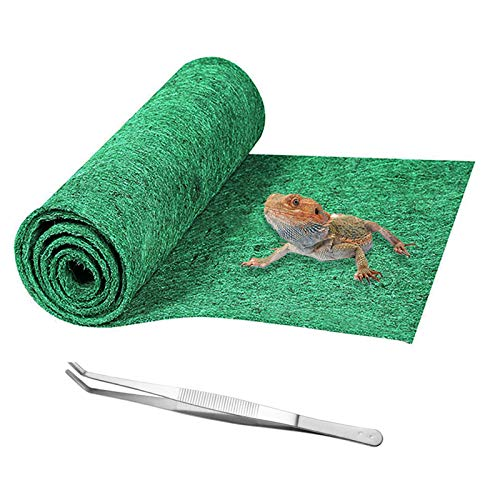 Mechpia Extra Large Reptile Carpet, Terrarium Mat Liner Bedding Reptile Substrate Supplies for Bearded Dragon Lizard Tortoise Leopard Gecko Snake 59'' x 24''