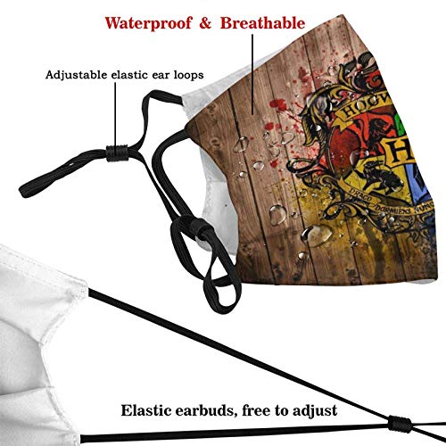 Adult Face Washable Reusable Protective Ha-rry Po-tter Breathable Fabric Face Cover