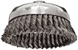 Weiler 12376 Wire Cup Brush, Threaded Hole, Steel, Partial Twist Knotted, Single Row, 6
