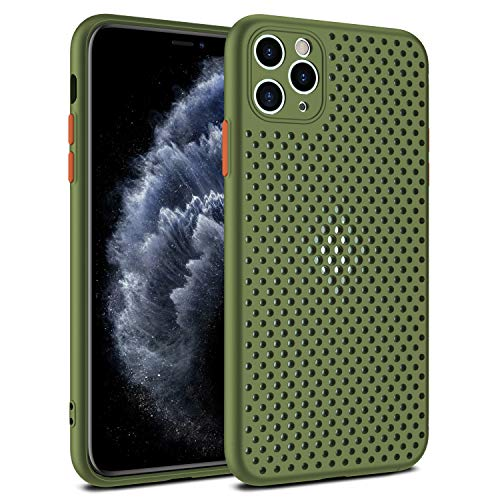 Heat Dissipating iPhone XR Heat Dissipation Case, Breathable Mesh iPhone XR Case - Ultra Thin Slim Fit Shockproof Silicone TPU Back Cover with Hollow Cellular Hole,Green