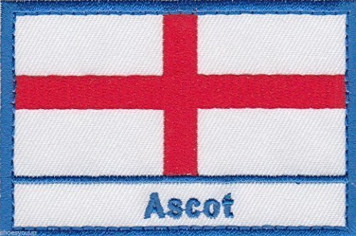 Emblems-Gifts Ascot Angleterre Town & City Croix st George Brodé Patch à Coudre