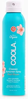 Sponsored Ad - Coola Organic Sunscreen & Sunblock Spray, Skin Care for Daily Protection, Broad Spectrum SPF 70, Reef Safe,...