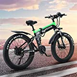 Bicicletas eléctricas para adultos Adulto eléctrica plegable de bicicletas, bicicletas de montaña de 26 pulgadas de nieve de la bici, batería de litio de 13Ah / 48V500W Motor, Faro 4.0 Fat Tire / LED