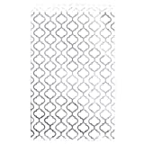 "200 pcs Shimmering Silver Trellis Pattern Paper Merchandise Gift Bags Shopping Sales Tote Bags 6""x9"" - Caddy Bay Collection"
