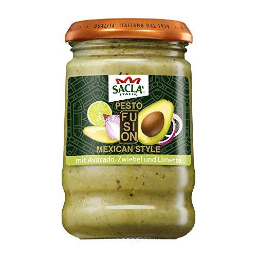 Saclà Pesto Fusion: Mexican Style | Mit Avocado, Zwiebeln und Limette | Für Nudeln, Pasta & Saucen | 190 g
