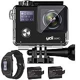 YDI 4K G80 Caméra Sport 30M Étanche Caméscope d'Action WiFi 20MP Ultra HD 170° Grand Angle avec Rechargeable Télécommande...
