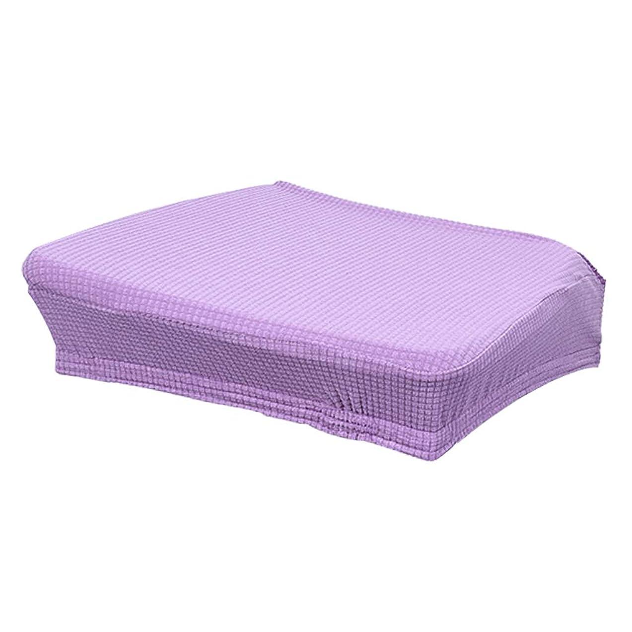 保証悪意成熟チェアカバー 椅子カバー 座面カバー ダイニングチェアカバー ホテル用品 防水 全5色 - パープル