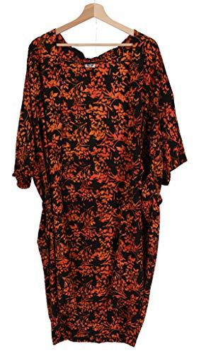 Guru-Shop - Kimono ligero de verano, capa, vestido de playa con diseño de mandala, para mujer, multicolor, sintético, talla: 44, blusas y túnica, ropa alternativa negro / naranja 46