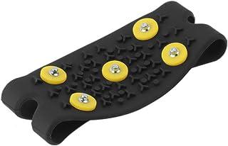 Leezo 8 Dents Ice Gripper pour Chaussures Snow Crampons Anti-Slip Ice Gripper Randonn/ée Crampons Spike Traction Ice Stud Chaussures Grip sur-Chaussures pour La Neige Et La Glace