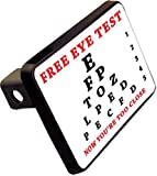 Free Eye Test Trailer Hitch Cover Plug Funny Novelty