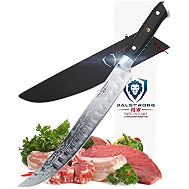DALSTRONG Butcher's Breaking Cimitar Knife - 10  - Shogun Series Slicer - Japanese AUS-10V- Vacuum Treated - Guard Included