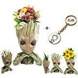 Black Deals Friday Cyber Deals Monday Deal Creative Groot Planter Pot Guardians of The Galaxy Flowerpot Baby Groot Action Figures Cute Model Toy Pen Pot Pencil Holder Best Gifts For Kids(I am Groot B)