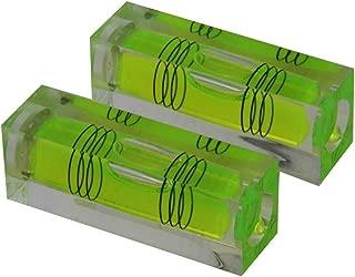High Precision Mini Level Bubble Small Horizontal Bubble Three Line Horizontal Pearl Level Magnetometer (521815mm green)2PCS
