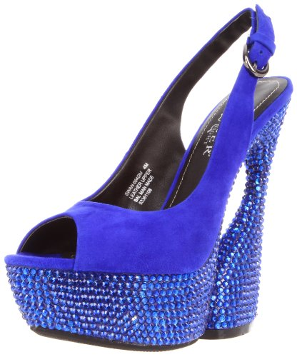 Pleaser Day and Night Pleaser Day & Night SWAN-654DM Royal Blue Suede UK 4 (EU 37)