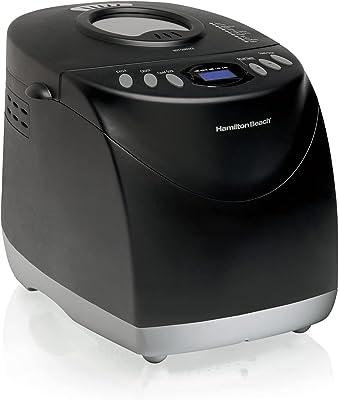 Hamilton Beach Bread Maker Machine, Digital, Programmable, 12 Settings + Gluten Free, Dishwasher Safe Pan + Kneading Paddle, 2 lb Capacity, Black (29882)
