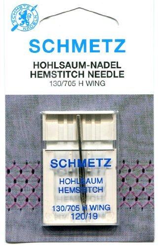 Schmetz HEMSTITCH - Agujas (2 tamaños), 120/19 (Thickest)