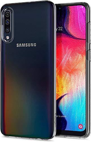 Spigen 611CS26200 Liquid Crystal Kompatibel mit Samsung Galaxy A50 Hülle Transparent TPU Silikon Handyhülle Samsung A50/A30S/A50S Durchsichtige Schutzhülle Hülle Crystal Clear