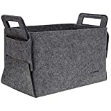 DuneDesign 25L felt <span class='highlight'>Organisation</span> Basket 37x24x37cm <span class='highlight'>storage</span> firewood basket Grey