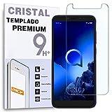 REY Protector de Pantalla para ALCATEL 1S, Cristal Vidrio Templado Premium