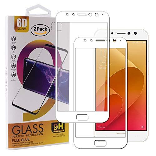 Guran [2 Pezzi Pellicola Vetro Temperato per ASUS Zenfone 4 Selfie PRO ZD552KL Smartphone Copertura Completa 9H Durezza Anti-Impronte HD Pellicola Protettiva - Bianco