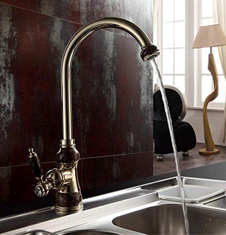 360 ° drehbarer Wasserhahn Retro Wasserhahnküchen-Wasserhahn Deck montiert drehbare Dreh Beckenhahn