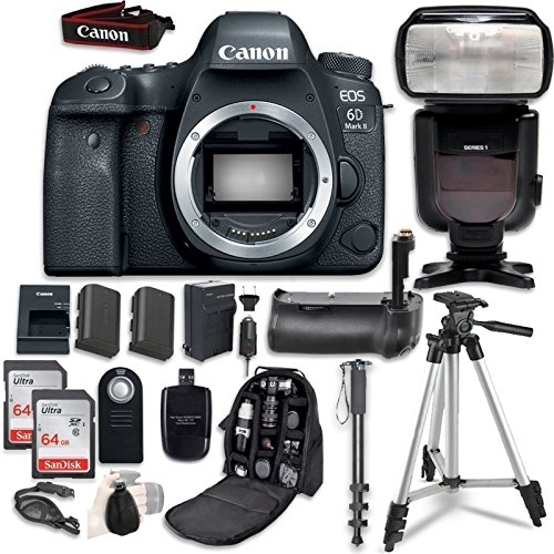 Canon EOS 6D Mark II Digital SLR Camera Bundle...