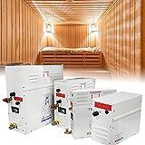 BIWAHumor Sauna Baño Generador de Vapor Multifuncional, Generador de Vapor para Sauna, con Controlador Impermeable para El Hogar Kit de Generador de Vapor Comercial Generador de Baño Vapor