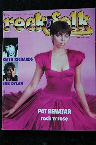 ROCK & FOLK 203 Keith Richards Bob Dylan Pat Benatar Rock\'n\'Rose Kraftwerk Yard Birds Bobby PRINCE