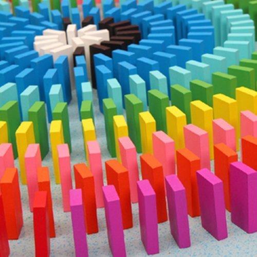 Eshowy - Juego de 120 Bloques de Madera Coloridos Dominos, Juego de Juguete Educativo para niños, Juego de Juguete Domino Racing