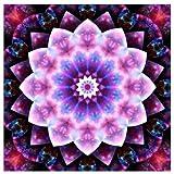 Kit de pintura de diamantes 5D con diamantes de imitación, flor de mandala, color morado con diamantes (mandala morada)