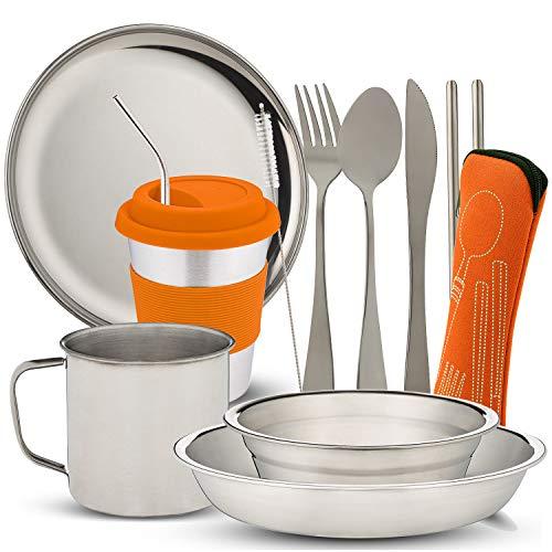 Wealers Stainless Steel Tableware Mass kit (Orange)