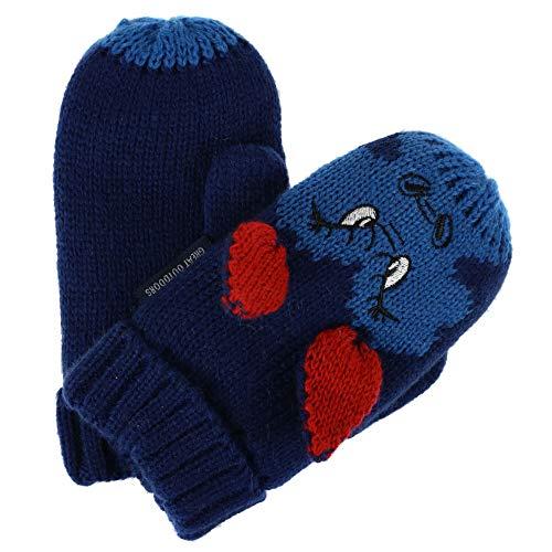 Regatta Animally III' Acrylic Knit Gants Enfant, Bleu foncé, Size 4-6