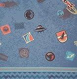 Swafing GmbH Softshell Galaxy Patches blau - Stoff -